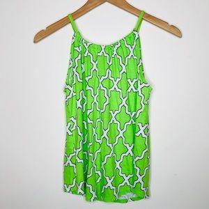 Crown & Ivy Green Printed Top Size SP